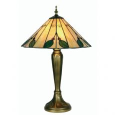 Leaf 2x60w Tiffany Glass Floral 16 Inch Table/Bedside  Lamp - OT 3020/16 TL